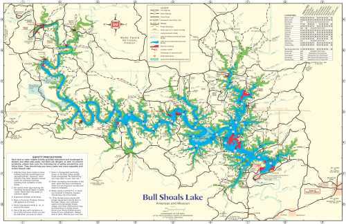 map of Bull Shoals Lake