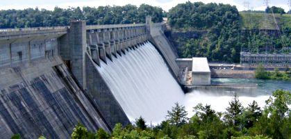 Bull Shoals Lake Dam Running the Spillways